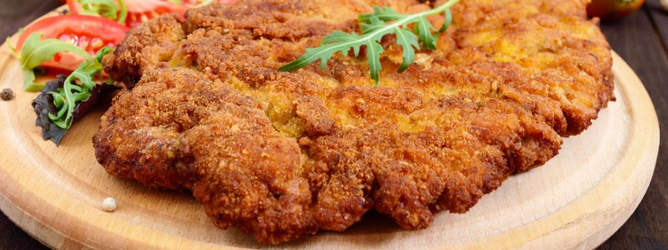 Cachopo vegano con filetes de seitán